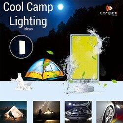 Przenośne oświetlenie 12V żarówka LED Camping lekki namiot światła latarka wisząca latarenka podstawa magnetyczna akumulator u nas państwo lampy dla domu
