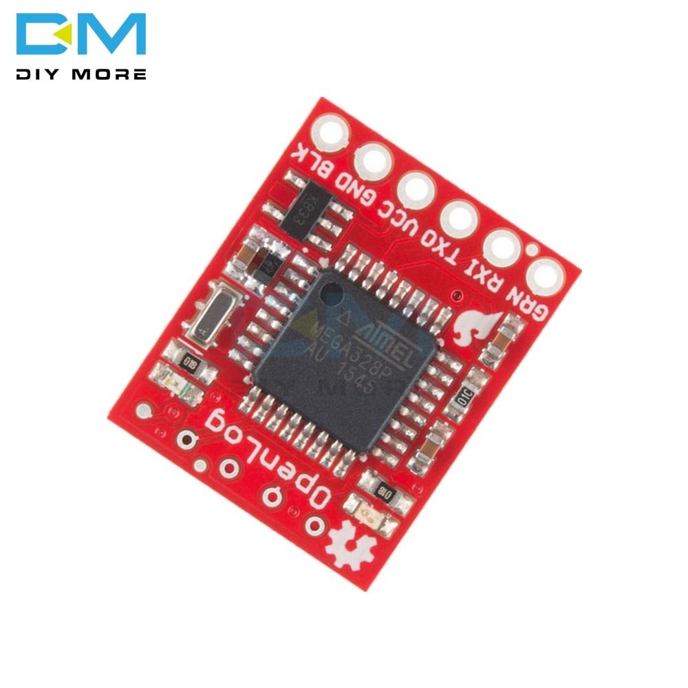 Openlog Serial Data Logger เปิดข้อมูลโมดูลสำหรับ Arduino 16 mhz ATmega328  รองรับ Micro SD 3 3 V - 12 V SPI Pin 64G