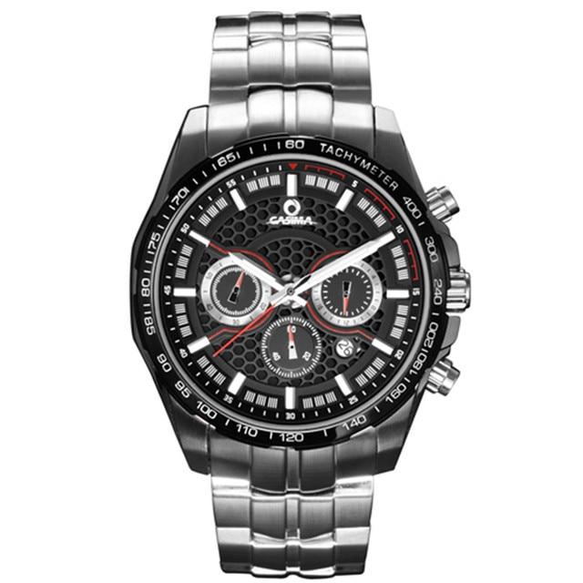 selezione premium f19a0 ff183 US $199.9 |Moda Sport crono orologi Da Polso uomo orologio orologio energia  Solare in acciaio inox Zaffiro impermeabile 100 m CASIMA #9906 in Moda ...