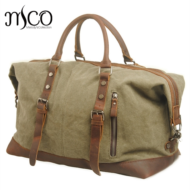 Men Travel Bags Military Canvas Duffle Bag Large Capacity Luggage Weekend Vintage Designer Carry
