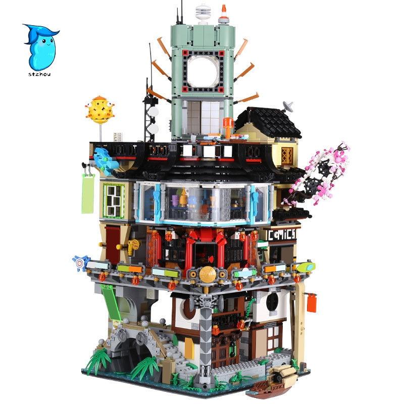 StZhou 4953pcs Lepin 06066 Ninjago City Masters of Spinjitzu Building Blocks Bricks Toys  For Christmas gift in stock dhl 4953pcs lepin 06066 ninja city construction 06066 lepin model building blocks kid toys bricks compatible 70620