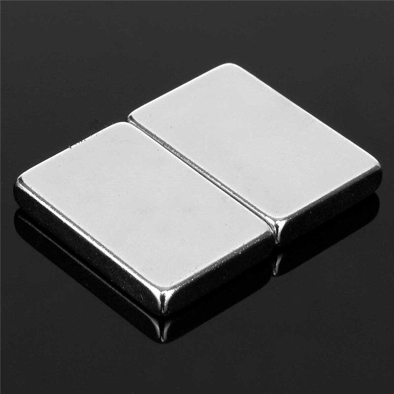 2Pcs 30 x 20 x 5mm N52 Block Magnets Square Rare Earth Neodymium Super Strong Permenent Magnet 30mm x 20mm x 5mm 2015 20pcs n42 super strong block square rare earth neodymium magnets 10 x 5 x 1mm magnet wholesale price