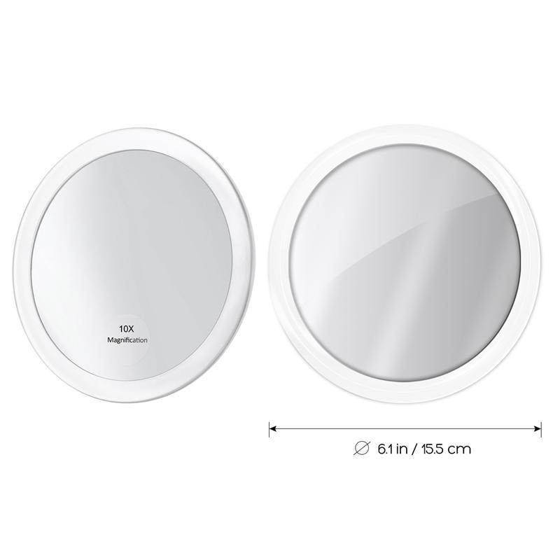 Acheter 10x Miroir De Maquillage Grossissant Avec 3 Ventouses