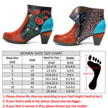Socofy Retro Embroidery Flower Ankle Boots Women Shoes Genuine Leather Zipper Casual Shoes Woman Designer Boots Botas Mujer New