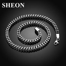 Hot sale Stainless Steel Link Chain popular classic herringbone necklaces Punk Retro Jewelry Accessories for men free shipping