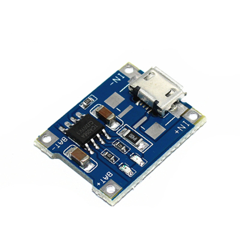 5pcs Micro USB 5V 1A 18650 TP4056 Lithium Battery Charger Module Charging Board With Automatic Protection