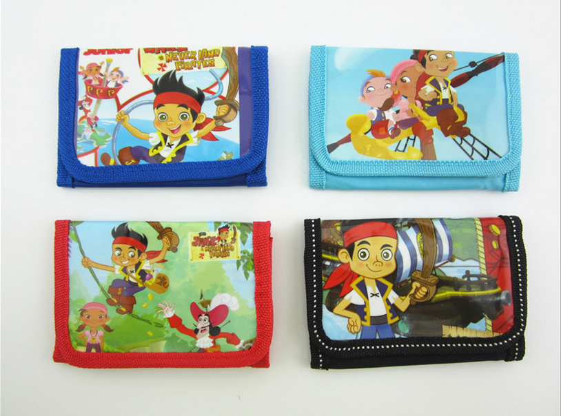 12Pcs Jake and the Never Land Pirates Coin Purse Cute Kids Cartoon Wallet Bag Pouch Children Purse Small Wallet Party Gift