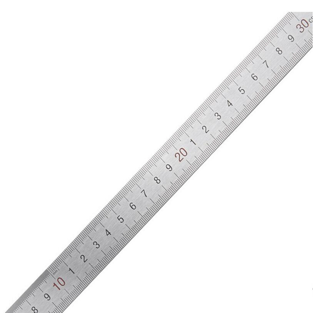 2016 New 1PCS Office School Supplies Educational Supplies Drafting Supplies Rulers 30cm stainless steel ruler