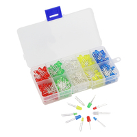 375pcs LED Red Green White Yellow Blue Color 5 Colors 3mm & 5mm Round Bright Light LEDS Assortment Kit  for Arduino Raspberry Pi