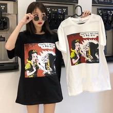 Harajuku Ulzzang Oversize tshirt cartoon Print Short Sleeve T Shirts Korean Style Women Loose Summer T shirt Female Casual tops-in T-Shirts from Women's Clothing on Aliexpress.com   Alibaba Group
