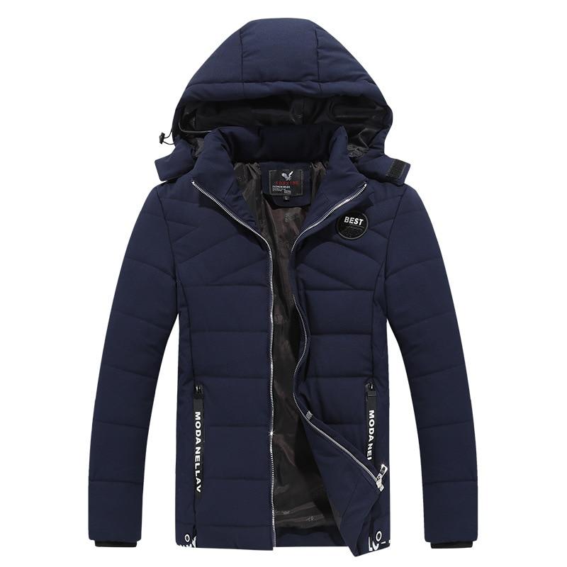 Men New Arrivals Jackets Jacket Casual Cotton Thick Men 's Wild Fashion Hooded Jacket Men Coat Winter Jacket Parka Clothing