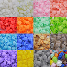 50Pcs/lot 3cm DIY Handmade Foam Flowers Rose Flower Head Artificial PE Wedding Decoration Scrapbooking Crafts 8Z