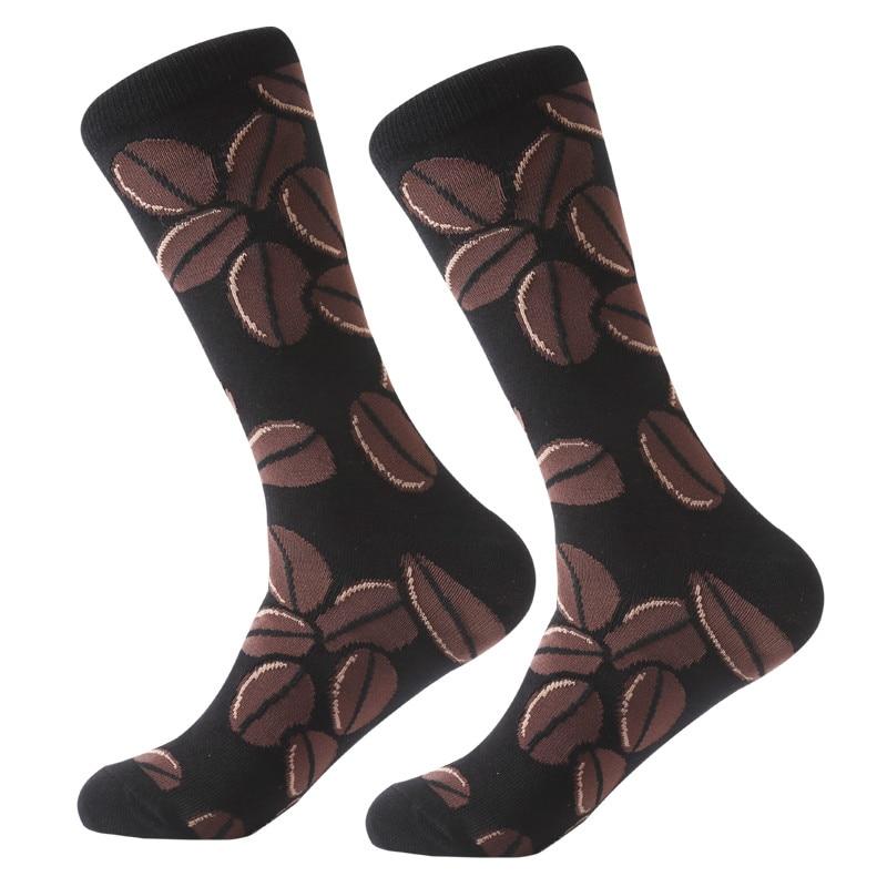 Underwear & Sleepwears Myored Mens Socks Combed Cotton Jacquard Cartoon Animal Dinosaur Cactus Penguin Male Business Dress Crew Socks Wedding Gift Sox