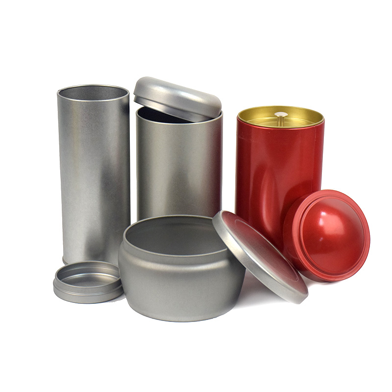 Xin Jia Yi Packaging Box Food Grade Connect Lid For Recycling One Gallon Tea Container Factory Sale Metal Tin Round Boxes