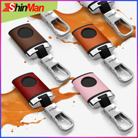 ShinMan Cow leather +ABS key Cover key protect shell For CAR key case For Chevrolet Captiva 2015 Captiva key case keychain