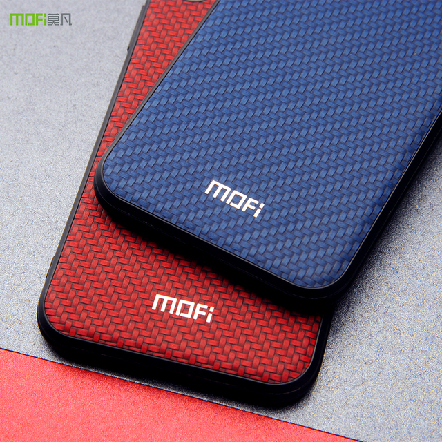 Mofi Xiaomi Redmi Note 6 Pro Luxury Weave Grain Back Case Cover
