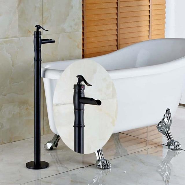 floor mount tub filler. Oil Rubbed Bronze Luxury Tub Mixer Tap Bathroom Faucet Floor Mount Filler Single