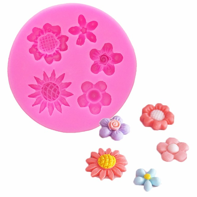Beautiful Flowers Chrysanthemum Silicone Mold Fondant Molds Cake