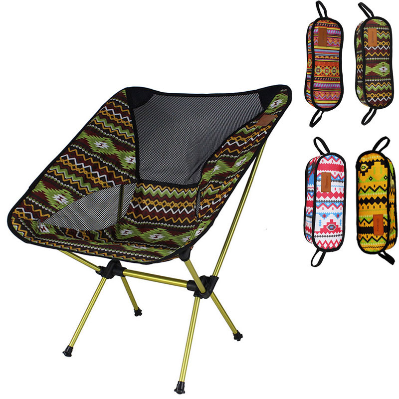 Bohemia Lightweight Compact Portable Outdoor Folding Picnic Chair Fold Up Fishing Beach Chair Foldable Camping Chair Seat