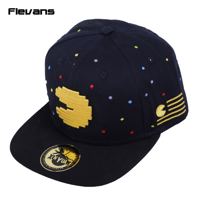 Pacman Snapback Hip Hop Hat & cap fashion Adjustable Ghost And Pac Man Baseball Cap Women Unisex cntang brand summer lace hat cotton baseball cap for women breathable mesh girls snapback hip hop fashion female caps adjustable