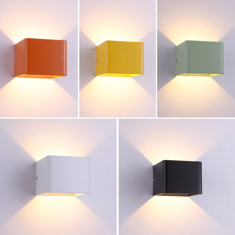 Us 13 73 38 Off Led Wall Lamps 5w Ac 85 240v Modern Bedroom Lights Indoor Dinning Room Corridor Lighting Aluminum In From