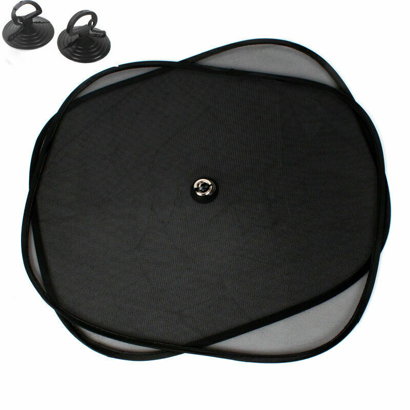 Side-Rear Sunshade-Cover Parasole Sun-Protectauto-Accessories Car-Window Black 2pcs/Set