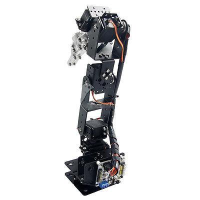 Robô 6 DOF Garra Kit de Montagem Do Braço Mecânico de alumínio Braço Robótico Novo