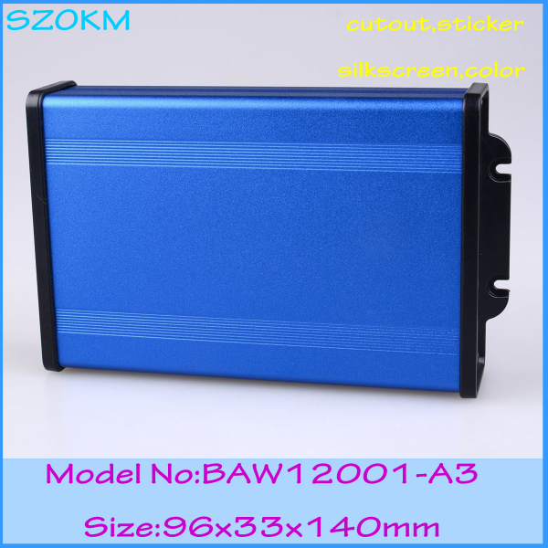 1 piece free shipping aluminum box distribution box  96x33x140 mm aluminum enclosures for electronics 1 piece free shipping small aluminium project box enclosures for electronics case housing 12 2x63mm