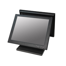 ComPOSxb dual 15 inch screen pos monitor /lcd for supermarket system