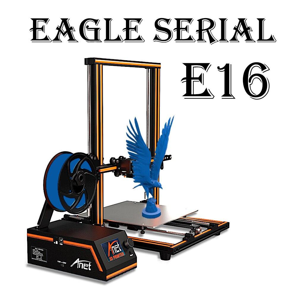 Anet E16 E10 E12 FDM 3D kit imprimante Haute Précision Z-axe double vis Reprap Prusa I3 Bureau 3D Imprimante bricolage avec PLA Filament