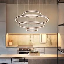 Nordic led lamps modern minimalist acrylic coffee bedroom room lamp living showroom chandelier