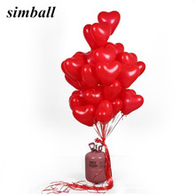 10pcs/lot 2.2g Pink White Red Love Latex Balloons Heart Shaped Thickening Pearl Balloons Wedding Supplies Birthday Party Decor(China)