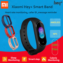 In-Stock Xiaomi Hey Plus Smartband 0.95 Inch AMOLED Color Screen Builtin Multifunction NFC Heart Rate Monitor Hey+ Band