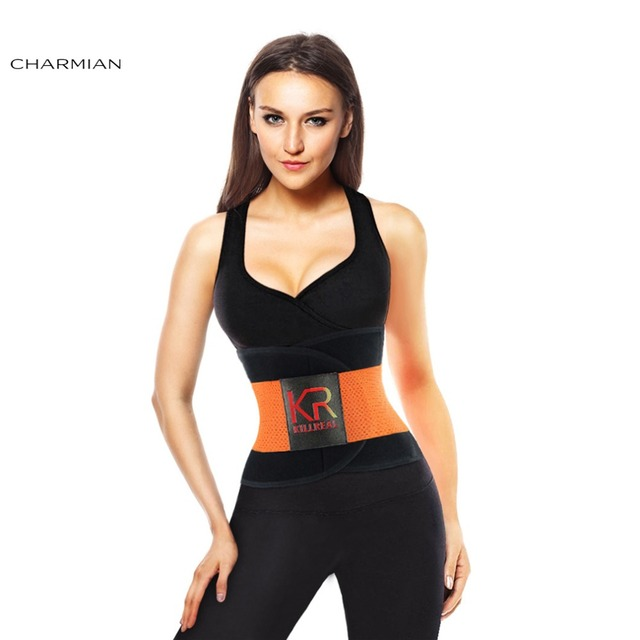 e5364de176 Charmian Women s Waist Trainer and Trimmer Belt Workout Body Shaper  Waistband for Hourglass Figure Corsets and Bustiers Corselet