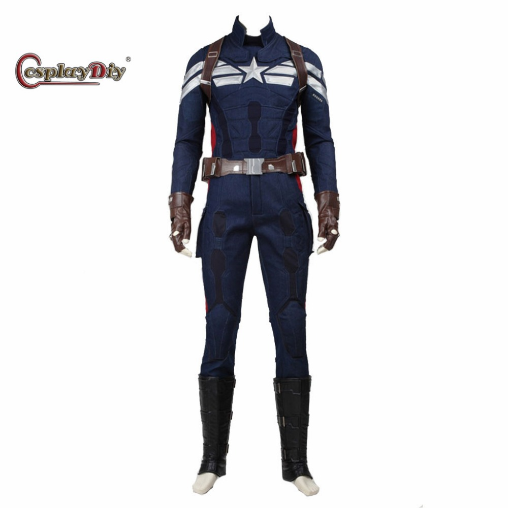 cosplaydiy avengers captain america 2 the winter soldier captain america cosplay costume adult men halloween outfit custom made