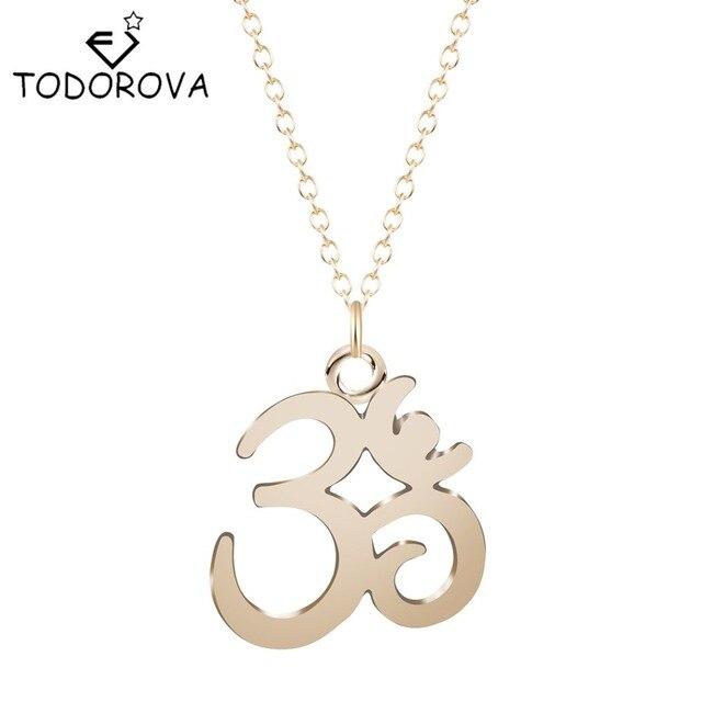 Todorova Yoga Om Pendant Necklace Meditation Om Symbol Necklaces