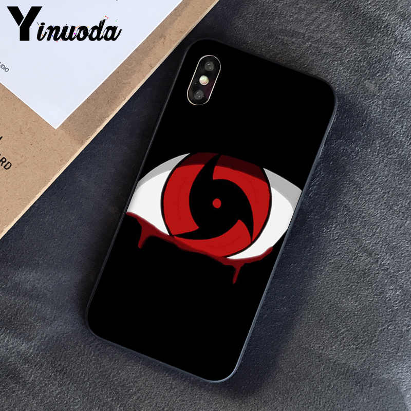 Yinuoda Cool Japan Anime Naruto Mata Coque Shell Ponsel Case untuk iPhone 5 5Sx 6 7 7 Plus 8 8 plus X XS Max XR 10 Kasus