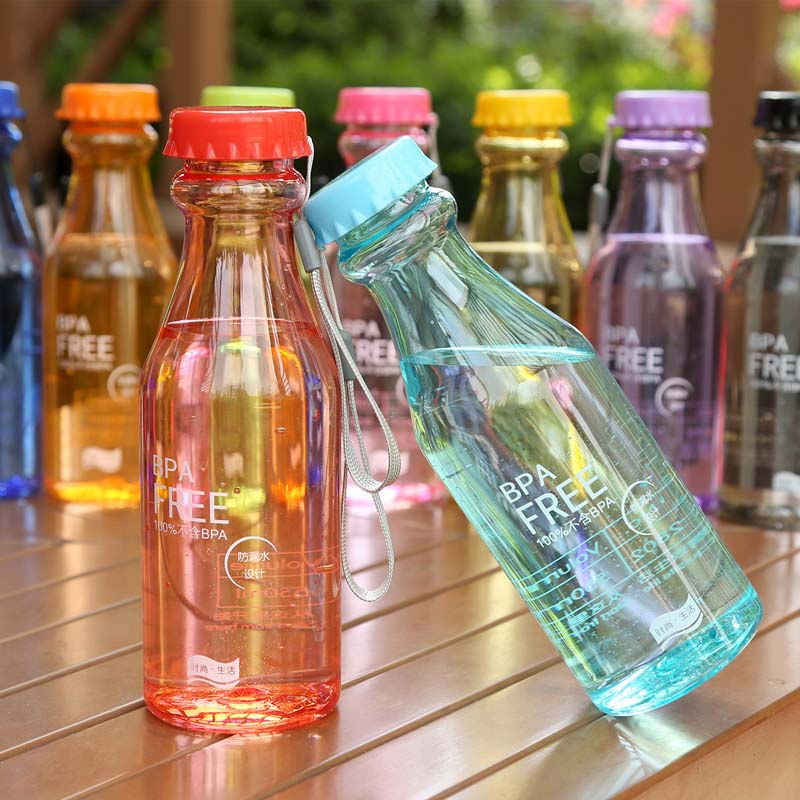 Portable 550ml Plastic Sports Water Bottle Container Leak-proof Bottles For Outdoor Riding Traveling Climbing Camping E2