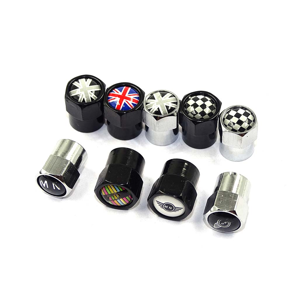 4PCS/set Auto Accessories Wheel Tire Parts Valve Stem Caps Cover For Mini Cooper Countryman Clubman R55 R56 R60 F54 F55 F56 F60 litanglee car accelerator pedal pad cover racing sport for mini cooper clubman r55 f54 2007 onwork at foot throttle pedal cover