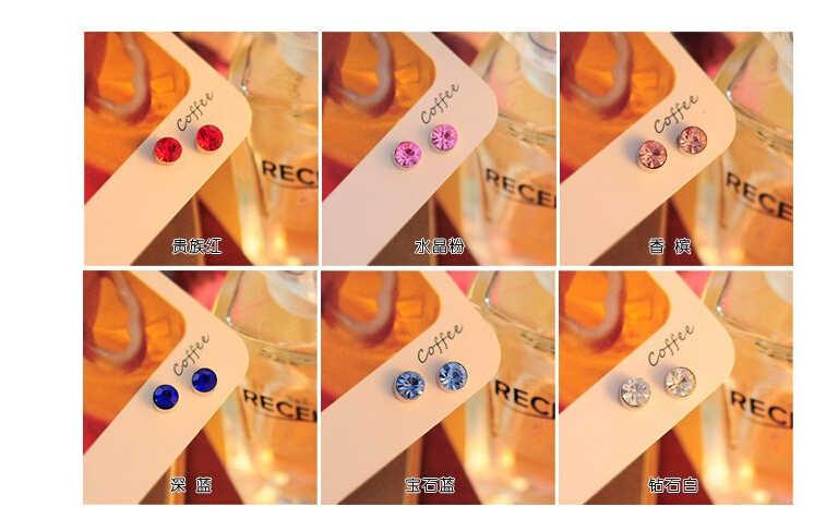 7 min $ (ordem da mistura) o mais baixo preço brinco 2015 hot-face uma pérola brilhante (5mm) CZ imitação de pérolas de cristal do parafuso prisioneiro brincos grandes