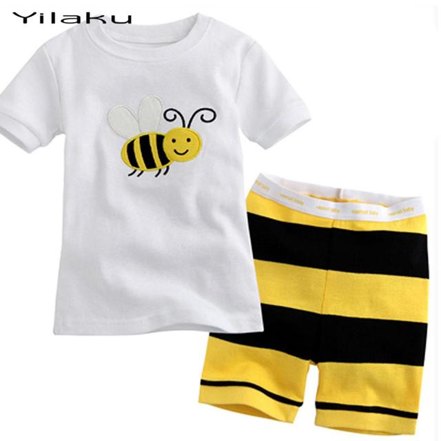 da0402e8a Aliexpress.com   Buy Yilaku Boys Girls Summer Clothing Sets Boy Girl ...