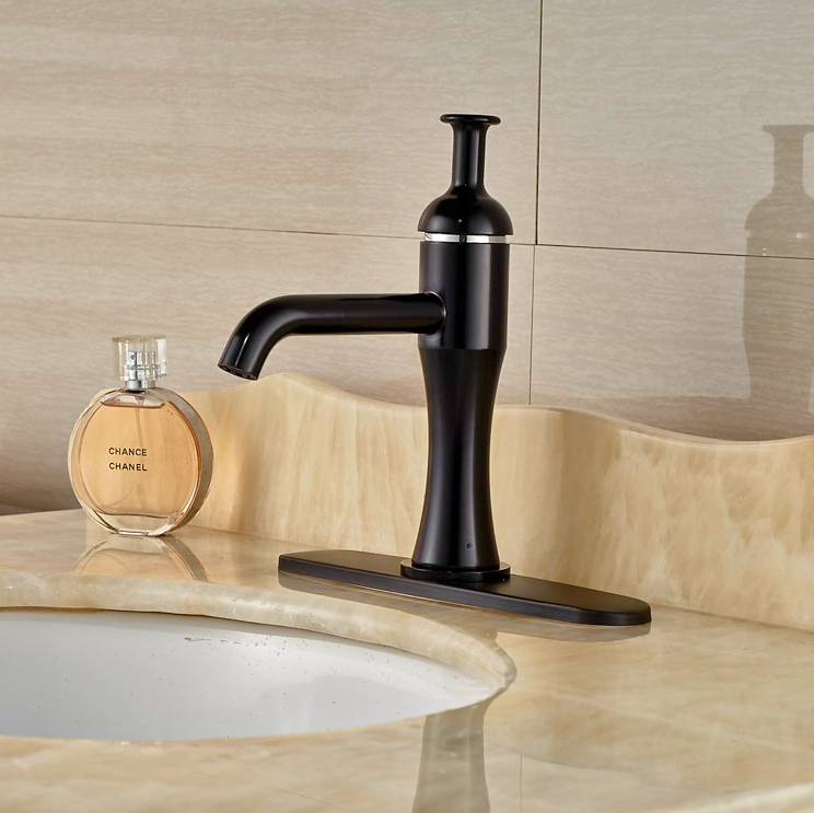 Wholesale And Retail Oil Rubbed Bronze Basin Faucet Bathroom Vessel Sink Tap Single Handle Mixer Faucet