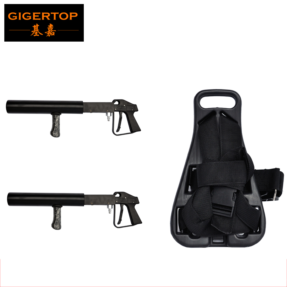 TIPTOP Stage Light DJ Co2 Gun + CO2 Backpack - CO2 Jet - Co2 Cannon Special Effects with 3 meter gas high hose NightClub Cannon