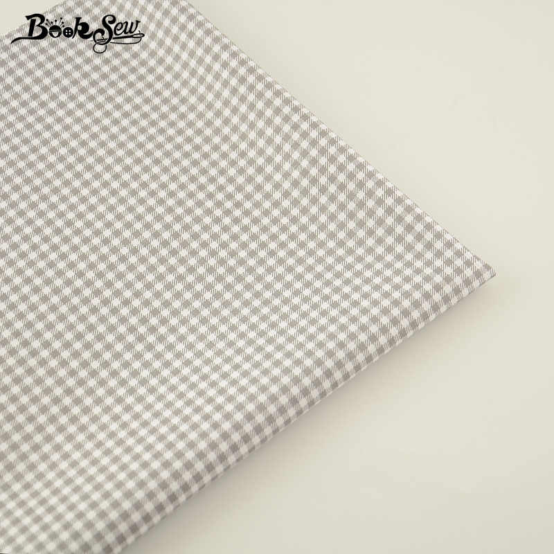 New Arrivals 100% Cotton Fabric Grey and White Checks Designs Twill Fat Quarter Home Textile Material Bed Sheet for Patchwork