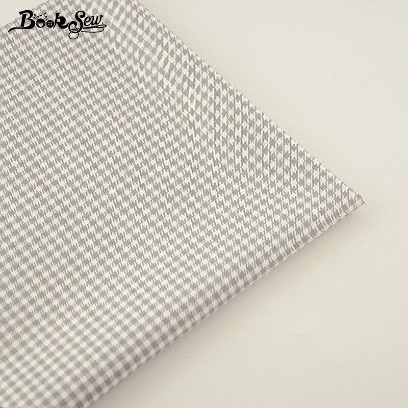 Nuevas Adquisiciones 100% Tela de Algodón Gris y Blanco Cheques Diseños Fat Quar