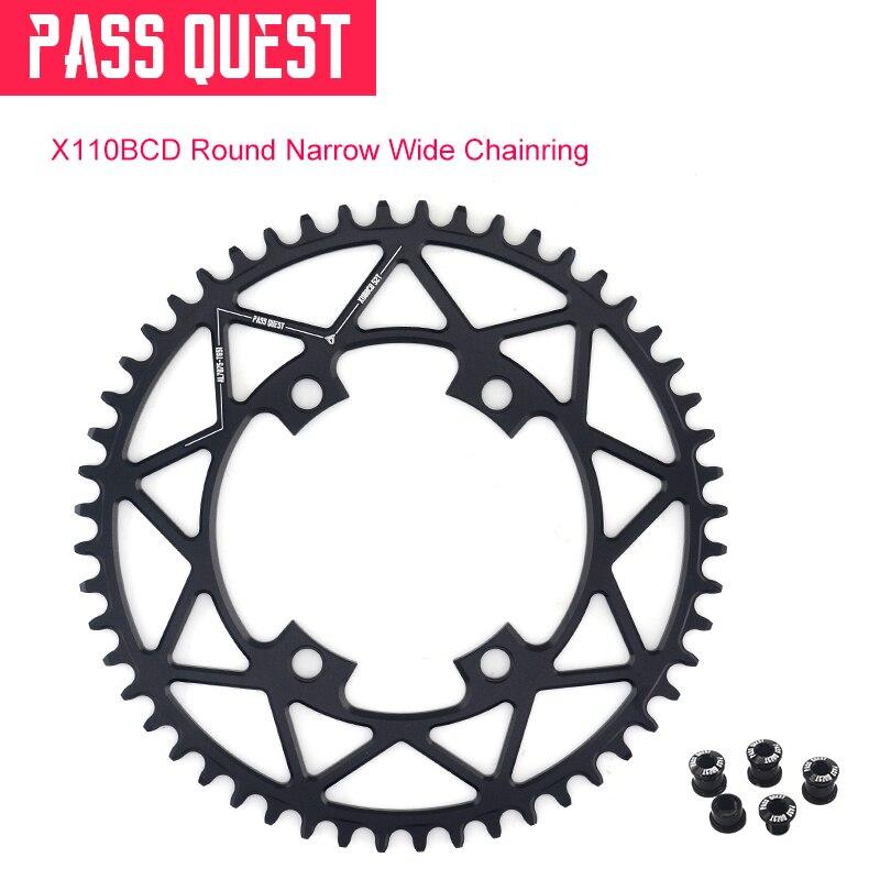 110BCD 4 pattes Durable chaîne de chaîne de vélo de route anneau de chaîne poids léger 40-52 T rond étroit large pièces de vélo pour Shimano manivelle 5800