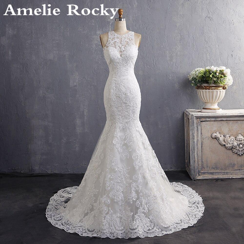 Vestidos De Noiva 2019 Bride Dress Simple Cheap Wedding Dress Turkey Lace Vintage Mermaid Wedding Dresses 2019 Robe De Mariee