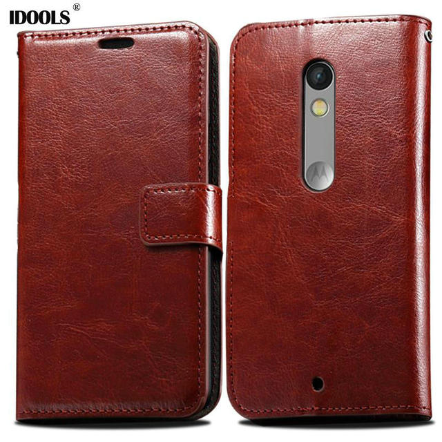 IDOOLS Wallet PU Leather Case for Motorola Moto X Play X3 Lux XT1562 with Stand and Card Holder Phone Bag Luxury Flip Cover