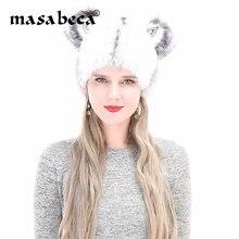 2018 Invierno Caliente visón piel bombardero Fox piel gruesa Rhinestone  lindo del oído del invierno Cap mujeres gruesas ruso toc. 211845e1ff02