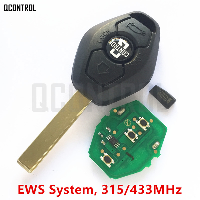 QCONTROL Chave Remota Do Carro DIY para EWS BMW X3 X5 Z3 Z4 1/3/5/7 Série Entrada Keyless Transmissor